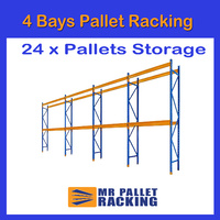 4 BAYS - 24 Pallets Space 3048mm High