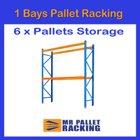 1 BAYS - 6 Pallets Space 3660mm High