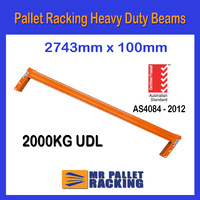 Beams - 2743mm 2 Tonnes Rated Beams