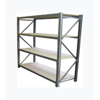 LS - 1 BAY 3000(h) X 3000(w) X 600(d)mm  - LONG SPAN RACKING/MEDIUM DUTY SHELVING 4 LEVELS