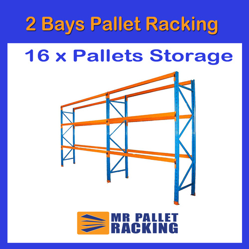 2 BAYS - 16 Pallets Space 4876mm High